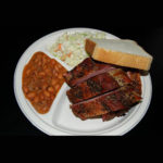 Barbeque Half Rack Baby Back Rib Plate